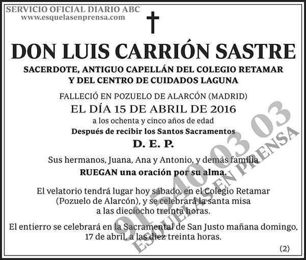 Luis Carrión Sastre